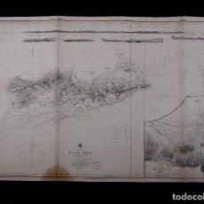 Linhas de navegação: CARTA NAUTICA WEST INDIES, SANTA CRUZ, 1856. Lote 111784867
