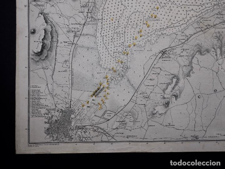 Líneas de navegación: CARTA NAUTICA IRELAND, BELFAST LOUGT, 1883 - Foto 3 - 111785455
