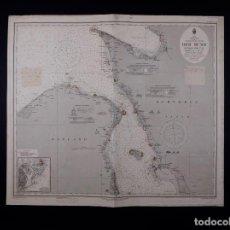 Líneas de navegación: CARTA NAUTICA DER SUND NÖRDLICHER TEIL, 1915. Lote 111786147