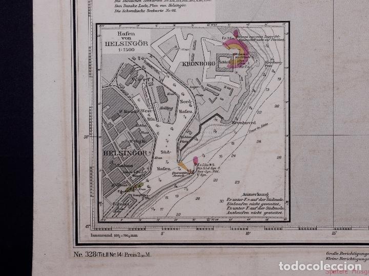 Líneas de navegación: CARTA NAUTICA DER SUND NÖRDLICHER TEIL, 1915 - Foto 5 - 111786147