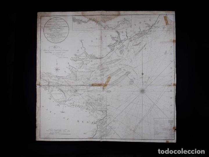 CARTA NAUTICA NORTH FORELAND, THE DOWNS AND SOUTH FORELAND, 1800 (Coleccionismo - Líneas de Navegación)