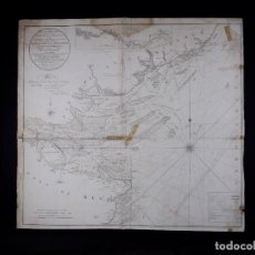 Líneas de navegación: CARTA NAUTICA NORTH FORELAND, THE DOWNS AND SOUTH FORELAND, 1800. Lote 111787239