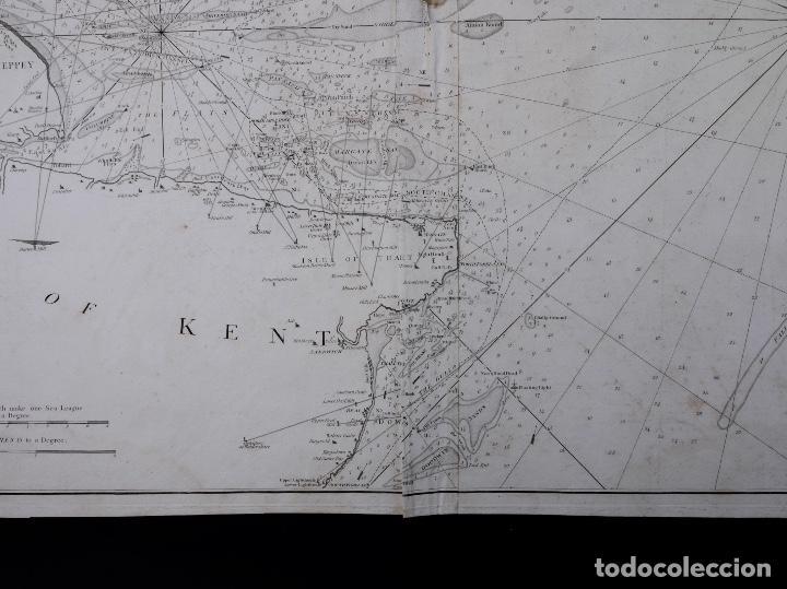 Líneas de navegación: CARTA NAUTICA NORTH FORELAND, THE DOWNS AND SOUTH FORELAND, 1800 - Foto 5 - 111787239