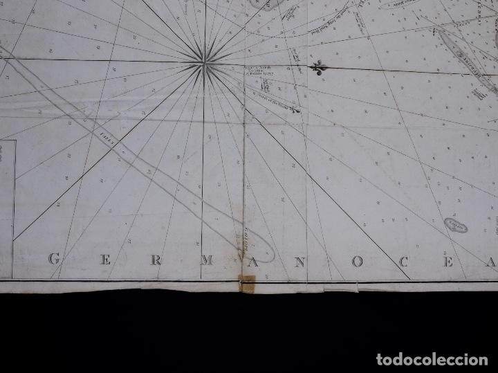 Líneas de navegación: CARTA NAUTICA NORTH FORELAND, THE DOWNS AND SOUTH FORELAND, 1800 - Foto 7 - 111787239