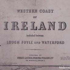 Líneas de navegación: CARTA NAUTICA IRELAND (TRES HOJAS), LOUGH FOYLE AND WATERFORD, 1920. Lote 111788079