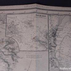 Líneas de navegación: CARTA NAUTICA FRANCE (TRES HOJAS), BREST AND BORDEAUX, 1929. Lote 111788519