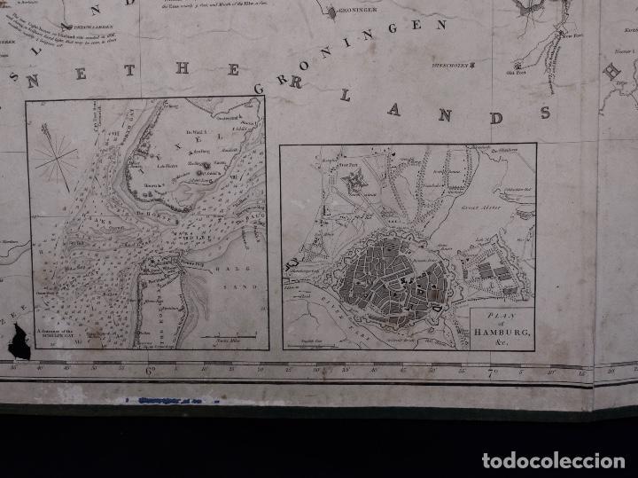 Líneas de navegación: CARTA NAUTICA HOLLAND, RIVER EMS TO EMDEN TO HAMBURG AND BREMEN, 1849 - Foto 3 - 111789111