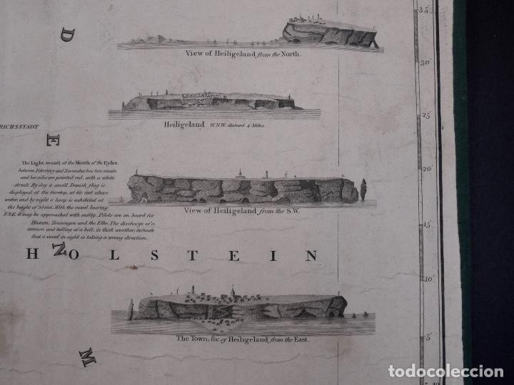 Líneas de navegación: CARTA NAUTICA HOLLAND, RIVER EMS TO EMDEN TO HAMBURG AND BREMEN, 1849 - Foto 4 - 111789111