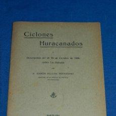 Líneas de navegación: (M) RAMON BULLON FERNANDEZ - CICLONES HURACANADOS Y DESCRIPCION 1926 SOBRE LA HABANA ( CUBA ) . Lote 112898203