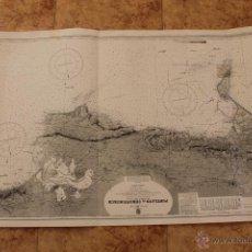 Líneas de navegación: CARTA NÁUTICA PUERTO REINO UNIDO1936. Lote 113882347