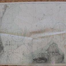 Líneas de navegación: CARTA NÁUTICA COSTA REINO UNIDO 1949. Lote 113882571