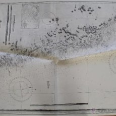 Líneas de navegación: CARTA NÁUTICA COSTA REINO UNIDO. Lote 113882607