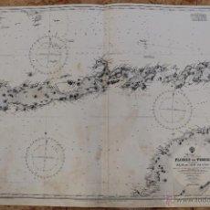 Líneas de navegación: CARTA NÁUTICA ISLA DE PASCUA. Lote 113882767