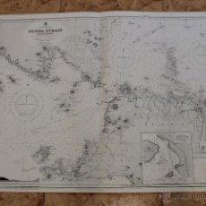 Líneas de navegación: CARTA NÁUTICA ESTRECHO DE LA SONDA. Lote 113882843