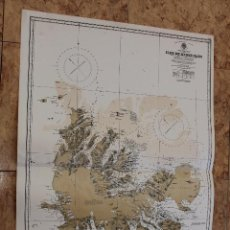 Líneas de navegación: CARTA NÁUTICA ISLAS KERGUELEN FRANCIA. Lote 113886343
