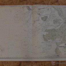 Líneas de navegación: CARTA NÁUTICA COSTA ALEMANA. Lote 113886607