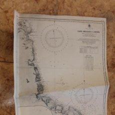 Líneas de navegación: CARTA NÁUTICA COSTA AFRICA. Lote 113886771