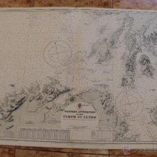 Líneas de navegación: CARTA NÁUTICA ISLAS BRITANICAS. Lote 113887483