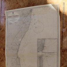 Líneas de navegación: CARTA NÁUTICA COSTA COSTA DE COROMANDEL INDIA. Lote 113893419