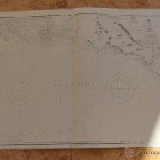 Líneas de navegación: CARTA NÁUTICA COSTA PAPUA NUEVA GUINEA. Lote 113893511