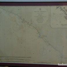 Líneas de navegación: SOUTH AMERICA WEST COAST SHEET XII PERU CAPE LOBOS TO PESCADORES POINT. LARGE INSET OF PORT MOLLEND. Lote 114526319