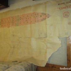 Líneas de navegación: PETROLERO DE CAMPSA CAMPEÓN, VIEJO PLANO DE ASTILLERO UNIÓN NAVAL DE LEVANTE VALENCIA AÑOS 40. Lote 115362271