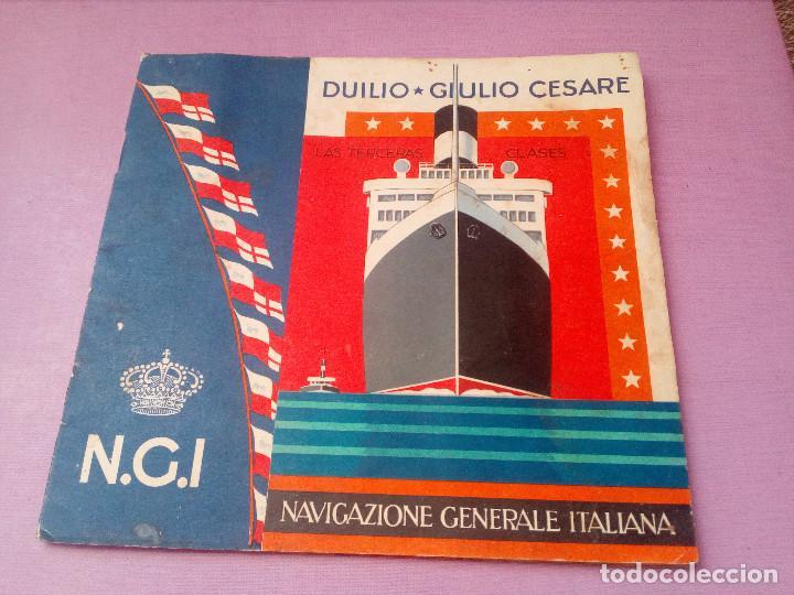 CATÁLOGO NGI NAVIGAZIONE GENERALE ITALIANA.LAS TERCERAS CLASES.DUILIO-GIULIO CESARE.EN ESPAÑOL. (Coleccionismo - Líneas de Navegación)