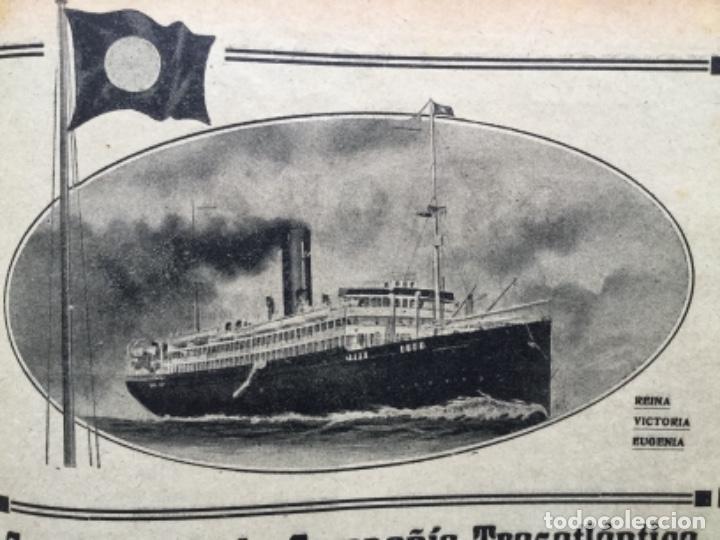 Líneas de navegación: SERVICIOS DE LA COMPAÑIA TRASATLANTICA REINA VICTORIA EUGENIA HOJA REVISTA AÑO 1919 - Foto 2 - 116343043