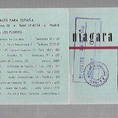 Líneas de navegación: NIAGARA LINE. CADIZ. TARJETA AVISO DE SALIDA DE BARCO. 1958. VAPOR KOLLFINN. Lote 116899687