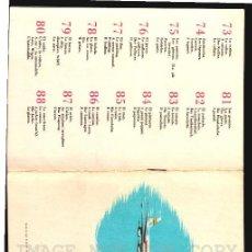 Líneas de navegación: IBERIA LINEAS AEREAS DE ESPAÑA FOLLETO CON VOCABULARIO CA 1960. Lote 117751787