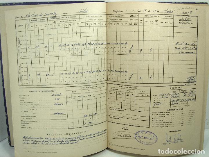 Líneas de navegación: CUADERNO DE MOTORES 1958 -BUQUE B7T BAILEN-EDICIONES FRAGATA-SELLADO ESCUELA OFICIAL NAUTICA BILBAO - Foto 5 - 118285363