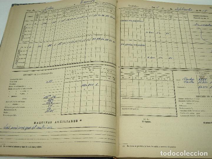 Líneas de navegación: CUADERNO DE MOTORES 1958 -BUQUE B7T BAILEN-EDICIONES FRAGATA-SELLADO ESCUELA OFICIAL NAUTICA BILBAO - Foto 6 - 118285363