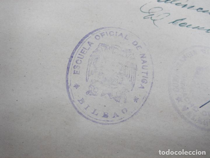Líneas de navegación: CUADERNO DE MOTORES 1958 -BUQUE B7T BAILEN-EDICIONES FRAGATA-SELLADO ESCUELA OFICIAL NAUTICA BILBAO - Foto 9 - 118285363