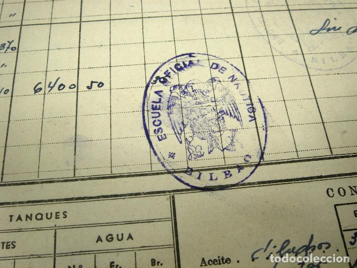 Líneas de navegación: CUADERNO DE MOTORES 1958 -BUQUE B7T BAILEN-EDICIONES FRAGATA-SELLADO ESCUELA OFICIAL NAUTICA BILBAO - Foto 11 - 118285363
