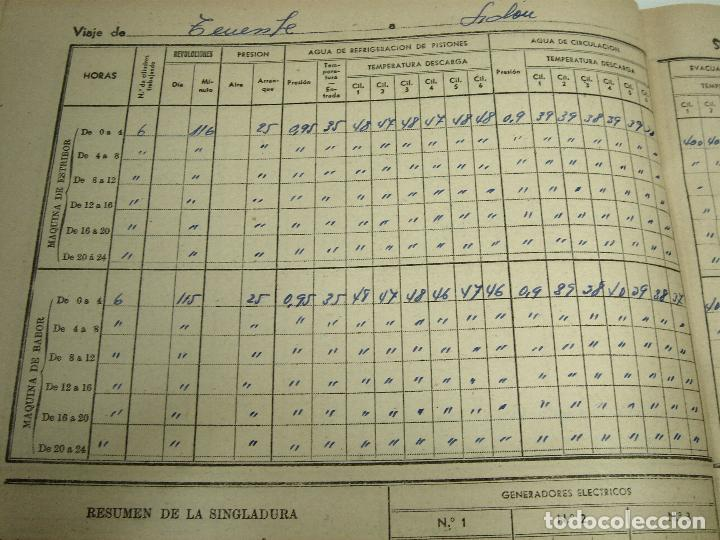 Líneas de navegación: CUADERNO DE MOTORES 1958 -BUQUE B7T BAILEN-EDICIONES FRAGATA-SELLADO ESCUELA OFICIAL NAUTICA BILBAO - Foto 12 - 118285363