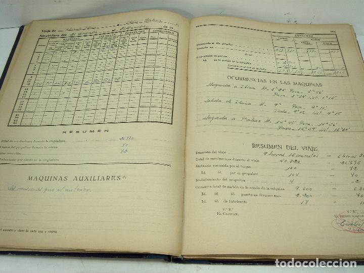 Líneas de navegación: CUADERNO DE MAQUINAS 1957 -VAPOR MALLORCA-EDICIONES FRAGATA-SELLADO COMANDANCIA MARINA VALENCIA - Foto 9 - 118287147