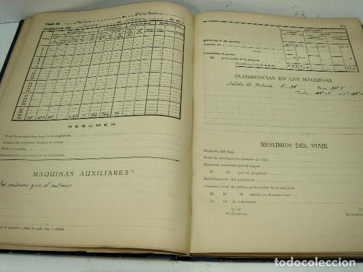 Líneas de navegación: CUADERNO DE MAQUINAS 1957 -VAPOR MALLORCA-EDICIONES FRAGATA-SELLADO COMANDANCIA MARINA VALENCIA - Foto 10 - 118287147