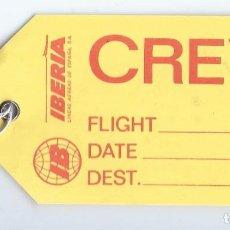Líneas de navegación: ETIQUETA - TRIPULACIÓN - CREW - IBERIA. Lote 194999755