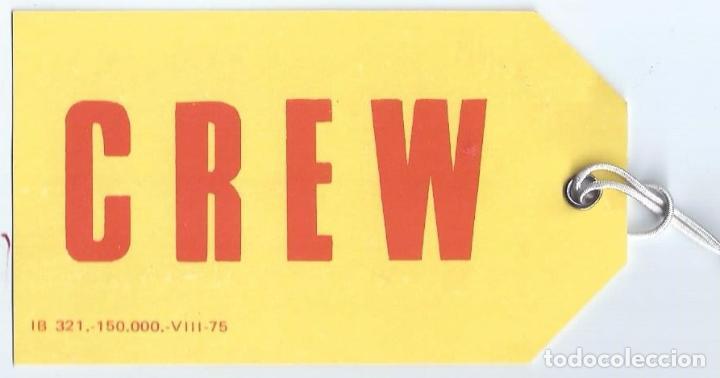 Líneas de navegación: Etiqueta - Tripulación - Crew - Iberia - Foto 2 - 194999755