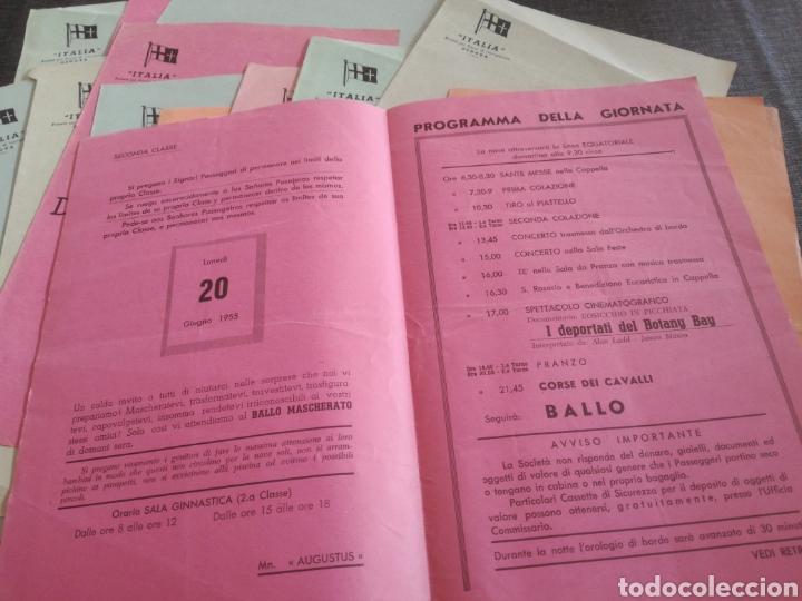 Líneas de navegación: CRUCERO AUGUSTUS (1955): LISTA PASAJEROS, MENÚS, PROGRAMAS DIARIOS, INFORMATIVO BOMBARDEO PLAZA MAYO - Foto 8 - 120126735