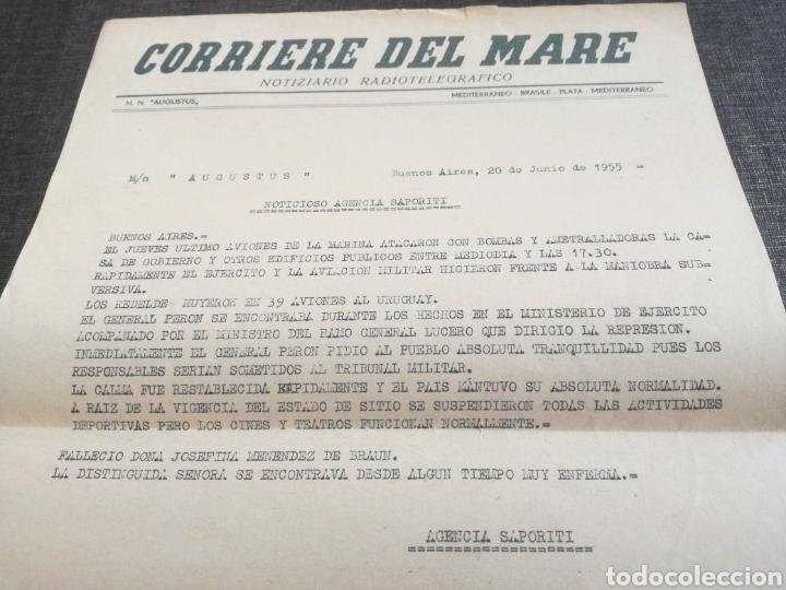 Líneas de navegación: CRUCERO AUGUSTUS (1955): LISTA PASAJEROS, MENÚS, PROGRAMAS DIARIOS, INFORMATIVO BOMBARDEO PLAZA MAYO - Foto 10 - 120126735