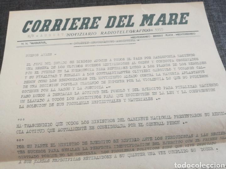 Líneas de navegación: CRUCERO AUGUSTUS (1955): LISTA PASAJEROS, MENÚS, PROGRAMAS DIARIOS, INFORMATIVO BOMBARDEO PLAZA MAYO - Foto 11 - 120126735