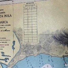 Líneas de navegación: ALICANTE. CARTA NÁUTICA BAHÍA SANTA POLA E ISLA TABARCA. INST. HIDROGR, MARINA. CÁDIZ 1961. Lote 121080615