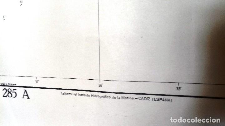 Líneas de navegación: ALICANTE. CARTA NÁUTICA BAHÍA SANTA POLA E ISLA TABARCA. INST. HIDROGR, MARINA. CÁDIZ 1961 - Foto 7 - 121080615