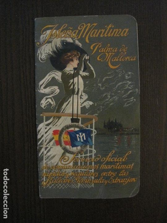 Líneas de navegación: ISLEÑA MARITIMA - PALMA MALLORCA- COMUNICACIONES MARITIMAS -AÑO 1914 -VER FOTOS-(V-14.580) - Foto 2 - 121894879