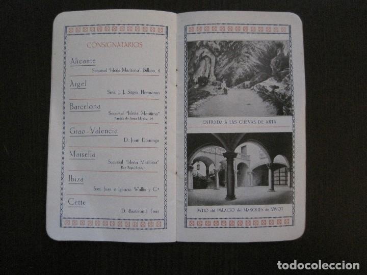 Líneas de navegación: ISLEÑA MARITIMA - PALMA MALLORCA- COMUNICACIONES MARITIMAS -AÑO 1914 -VER FOTOS-(V-14.580) - Foto 14 - 121894879