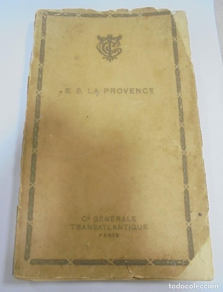 COMPAÑIA GENERAL TRANSATLANTICA. PARIS. S.S. LA PROVENCE. CATALOGO DEL BARCO. ILUSTRADO. VER (Coleccionismo - Líneas de Navegación)