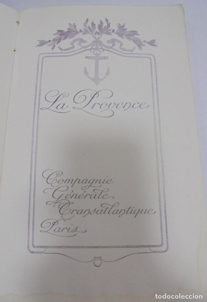 Líneas de navegación: COMPAÑIA GENERAL TRANSATLANTICA. PARIS. S.S. LA PROVENCE. CATALOGO DEL BARCO. ILUSTRADO. VER - Foto 8 - 122359355