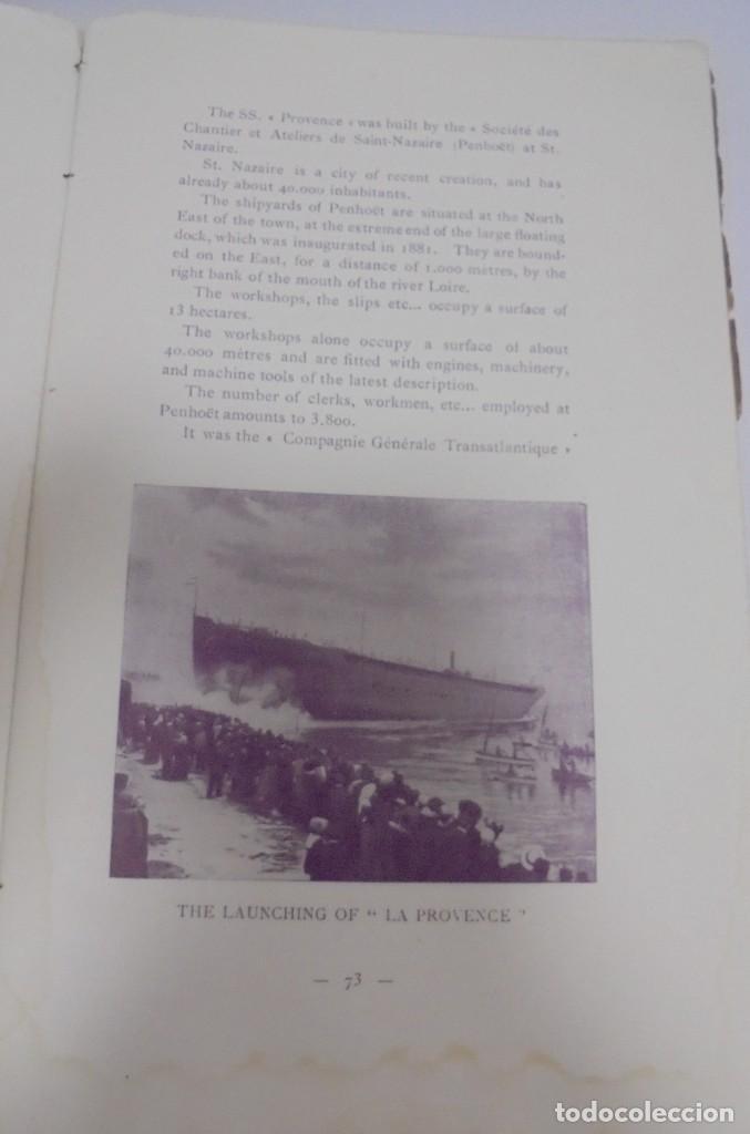 Líneas de navegación: COMPAÑIA GENERAL TRANSATLANTICA. PARIS. S.S. LA PROVENCE. CATALOGO DEL BARCO. ILUSTRADO. VER - Foto 21 - 122359355