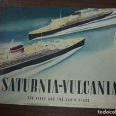 Líneas de navegación: SATURNIA- VULCANIA. THE FIRST AND THE CABIN CLASS. ITALIAN LINE. AMERICAN EXPORT LINES, INC. . Lote 123307675